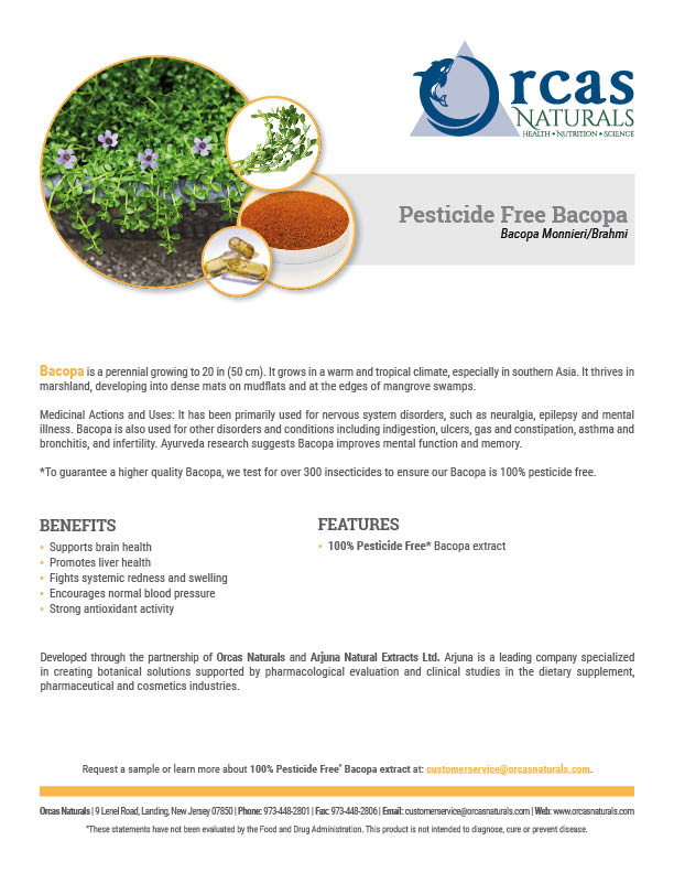 Orcas Naturals Pesticide Free Bacopa Sell Sheet